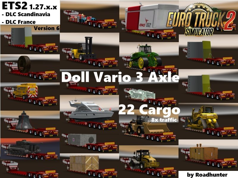 Doll Vario 3Achs with 22 Cargo 8x in traffic v6 [1.27.x]