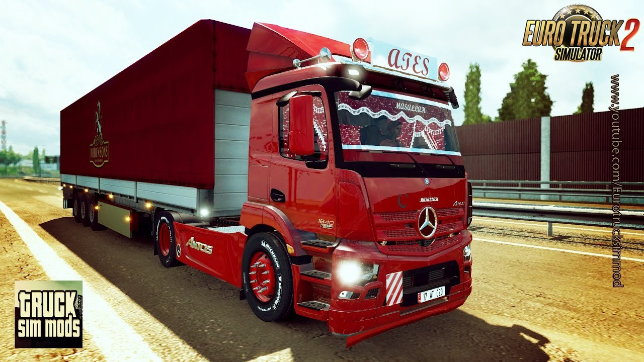Mercedes-Benz Antos 1840 Turkey Edition (1.27.x) - Euro Truck Simulator 2