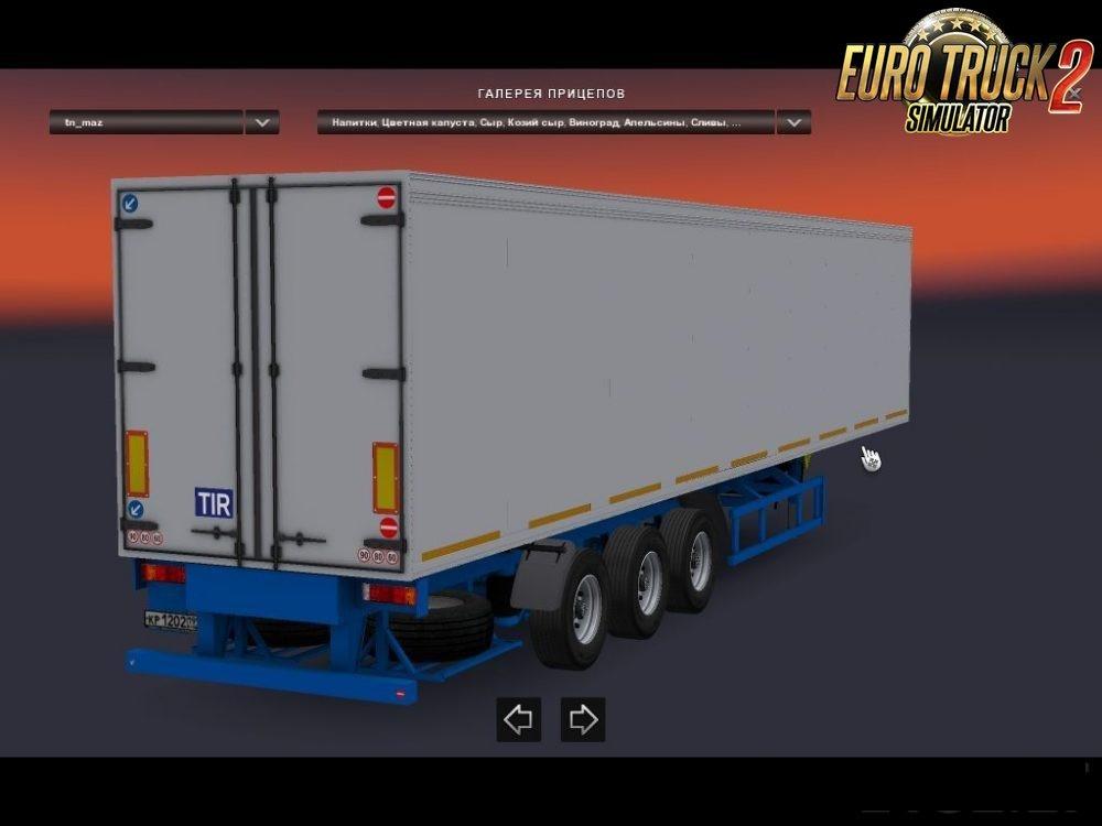 Trailer MAZ Refrigerator [1.27.x]