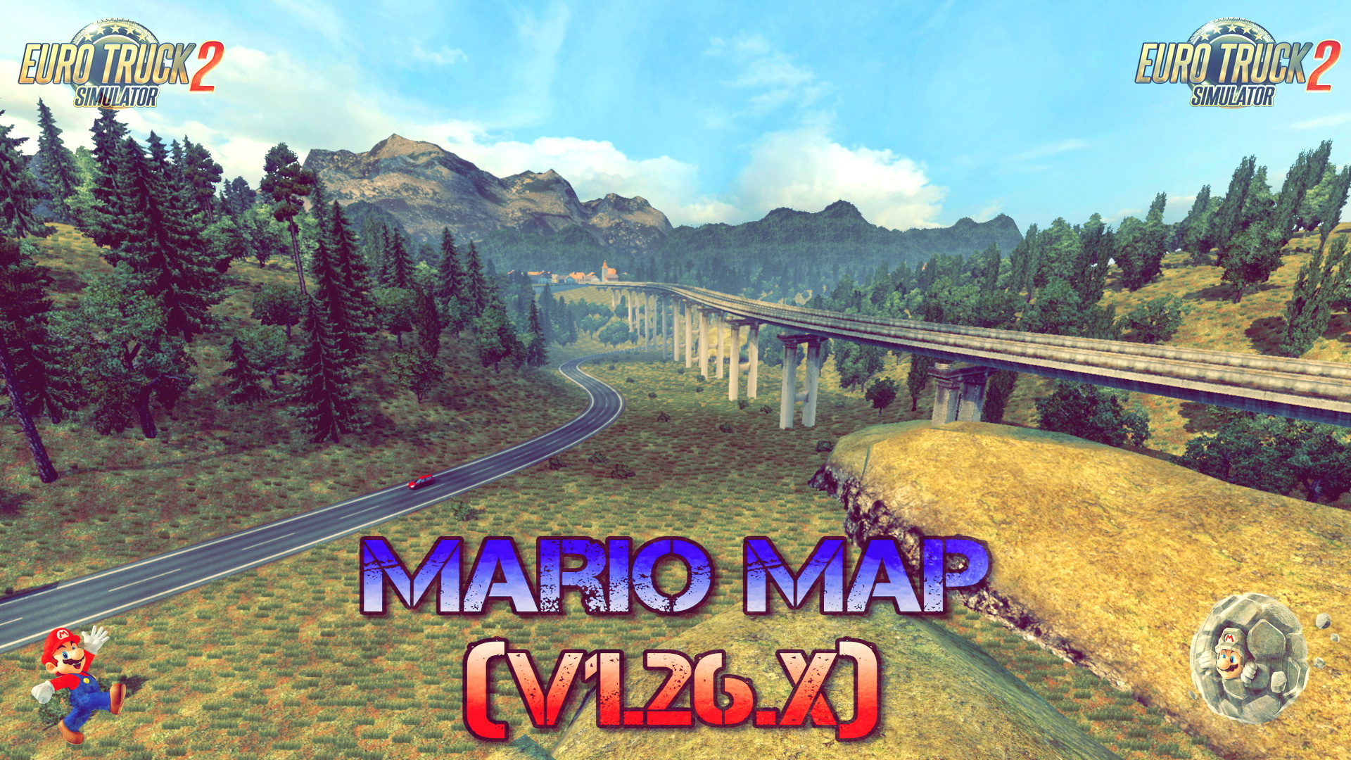 Mario Map v12.3 (Updated) (1.26.x) - Euro Truck Simulator 2