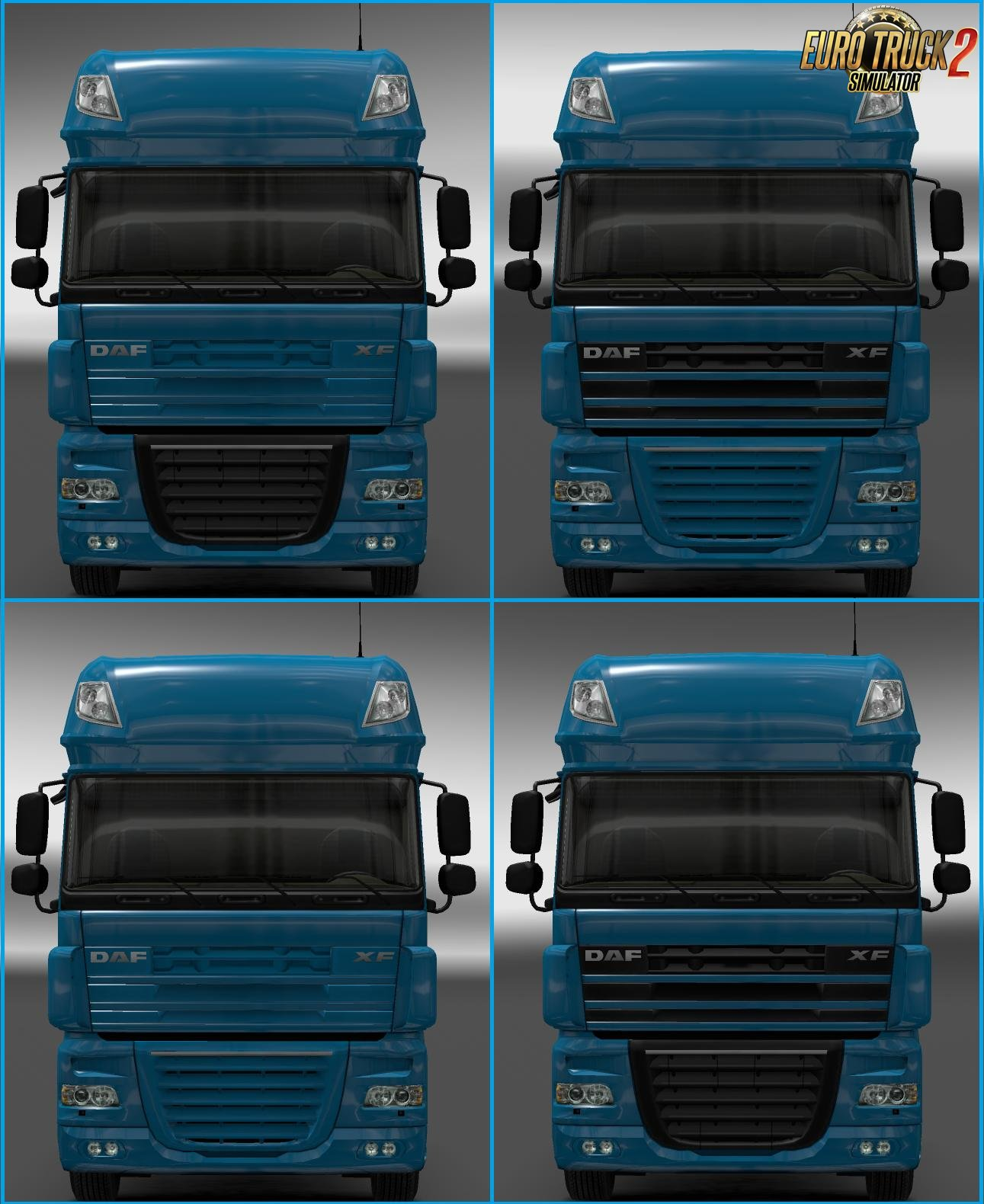 Daf XF Painted Intakes for Ets2 [1.27.x]