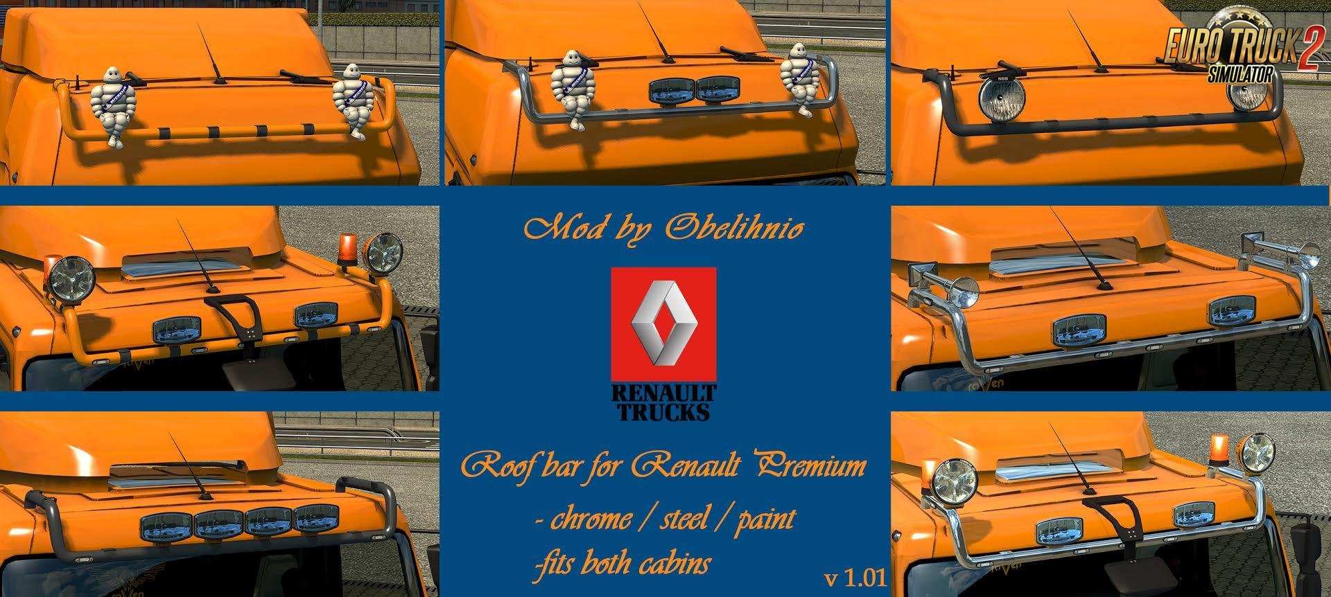 Roofbar for Renault Premium v1.01 by obelihnio [1.27.x]