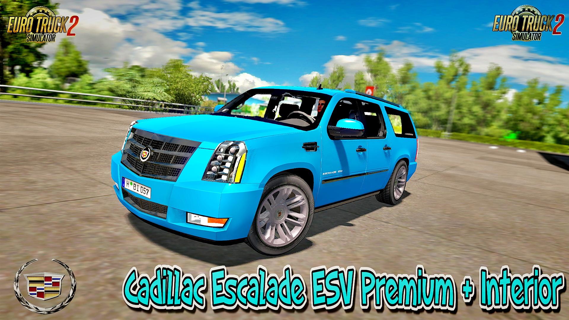 Cadillac Escalade ESV Premium 2012 + Interior v1.0 (1.27.x)
