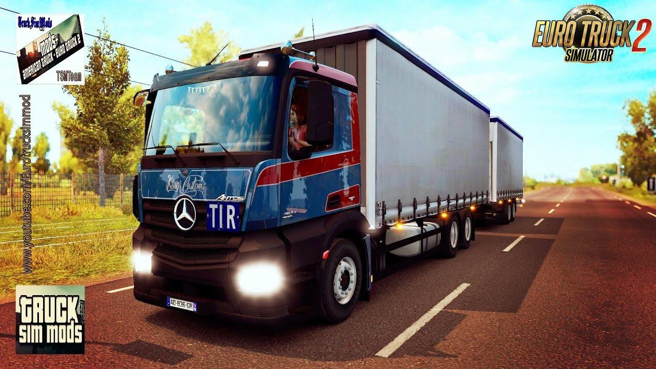 Mercedes Antos rsquo;12 + Tandem BDF v1.2.0.123 - Euro Truck Simulator 2