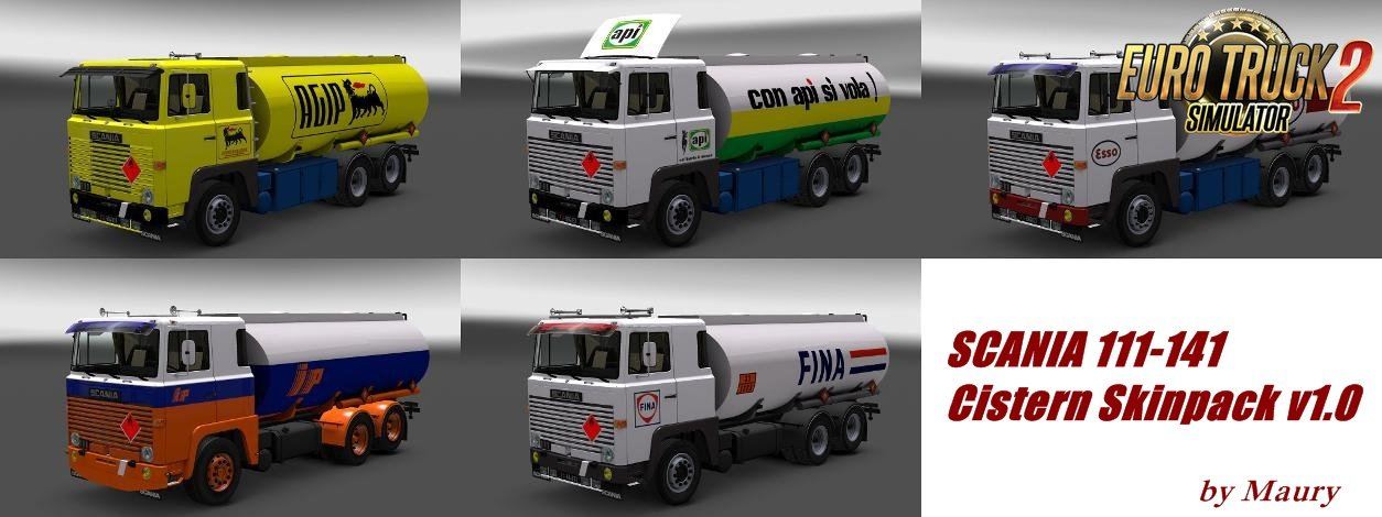 SCANIA 111-141 Cistern Skinpack v1.0 for Ets2