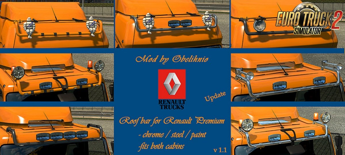 Roofbar for Renault Premium v1.31 by Obelihnio (1.30.x)