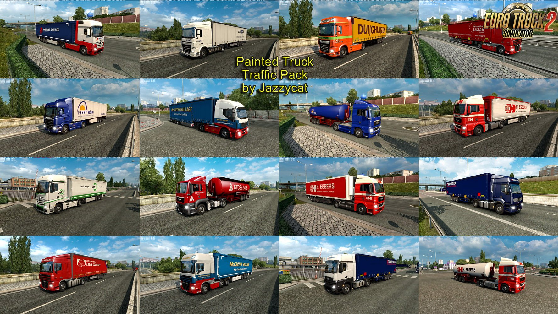 Painted Truck Traffic Pack v3.3 by Jazzycat [1.27.x]