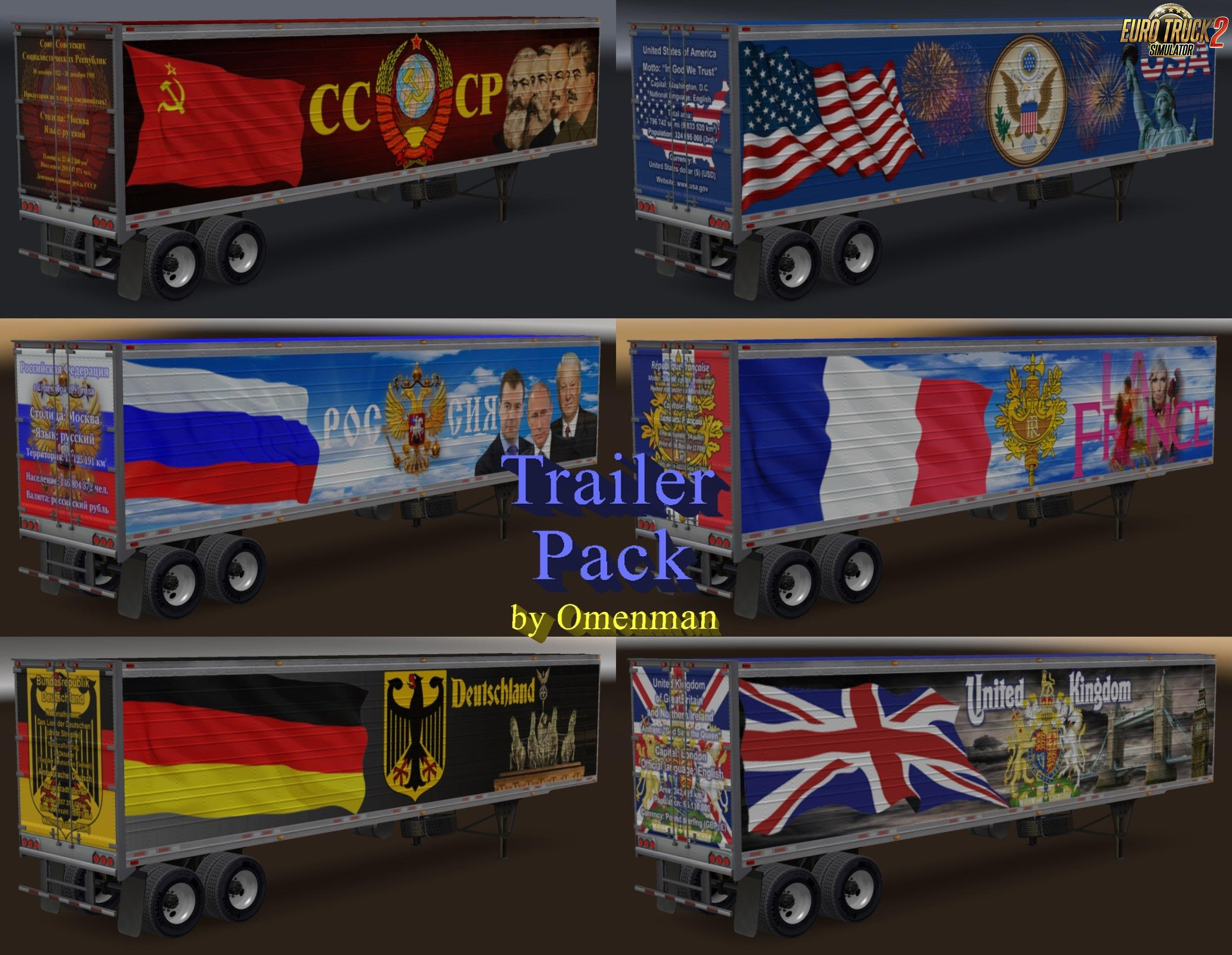 Trailer Pack by Omenman v6.5 ETS2 [1.27.X] + ATS [1.6.X]