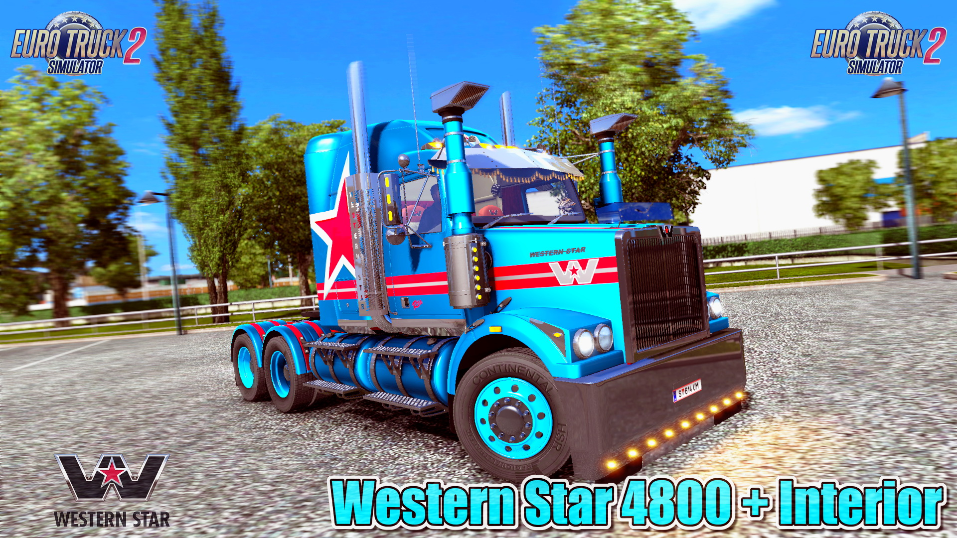 Western Star 4800 + Interior v3.1 by RTA Mods (1.30.x)