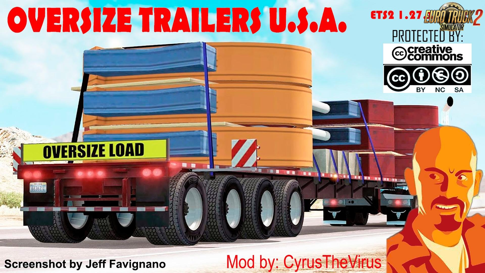 OVERSIZE Trailers U.S.A. for Ets2 [1.27.x]