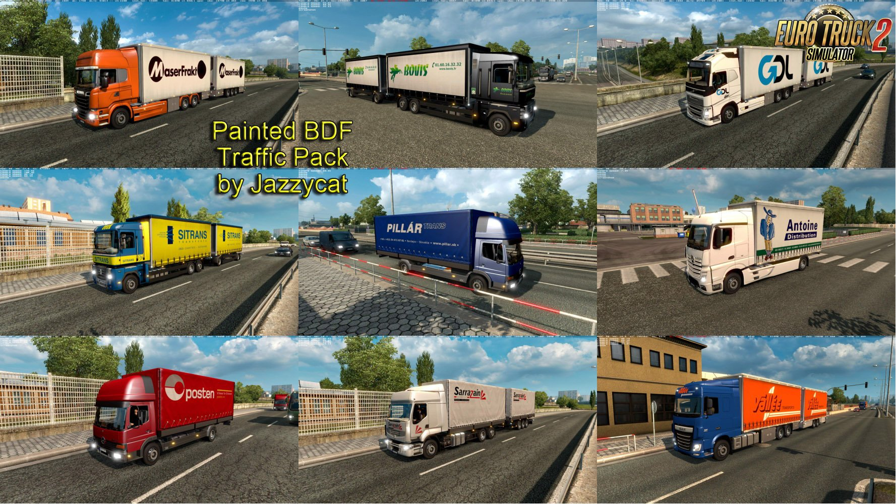 Painted BDF Traffic Pack v1.7 by Jazzycat [1.27.x]