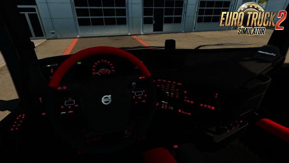 Volvo FH16 Redline Interior v1.0 by OveRTRucK (1.27.x)