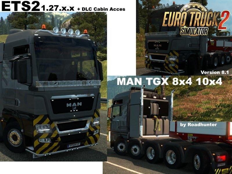 MAN TGX 8×4 10×4  v8.1 [1.27.x]