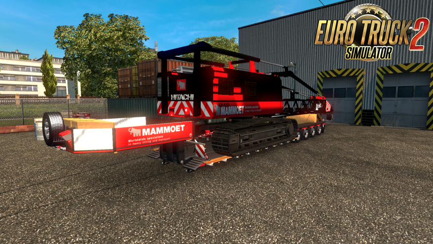 "Trailer with a crane ""Hitachi 150"" [1.27.x]"