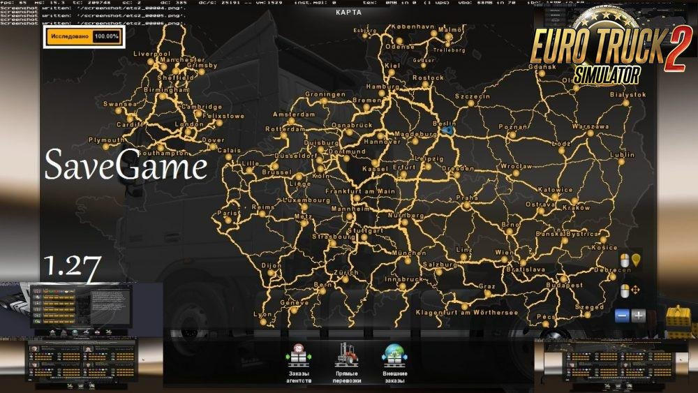 Save Game for ETS 2 by VITALIY7735 (1.27.x)