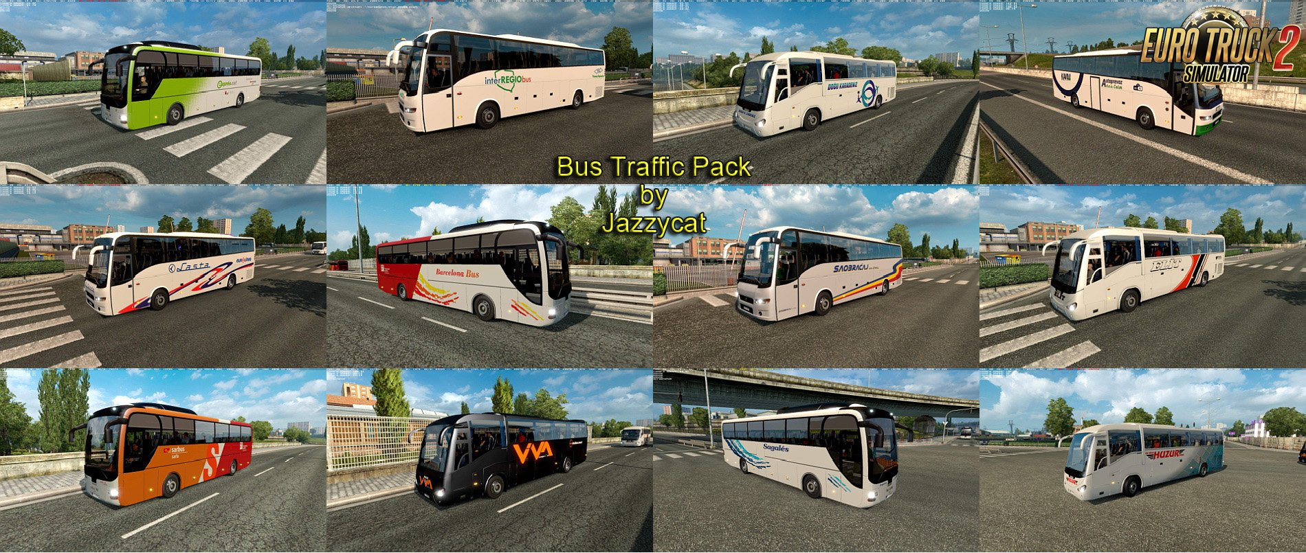 Bus Traffic Pack v2.0 by Jazzycat