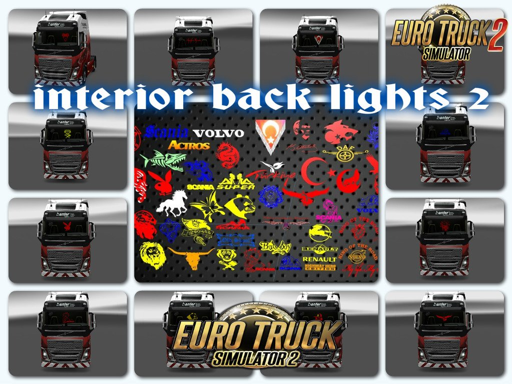 Interior Back Lights v2.0 for Ets2
