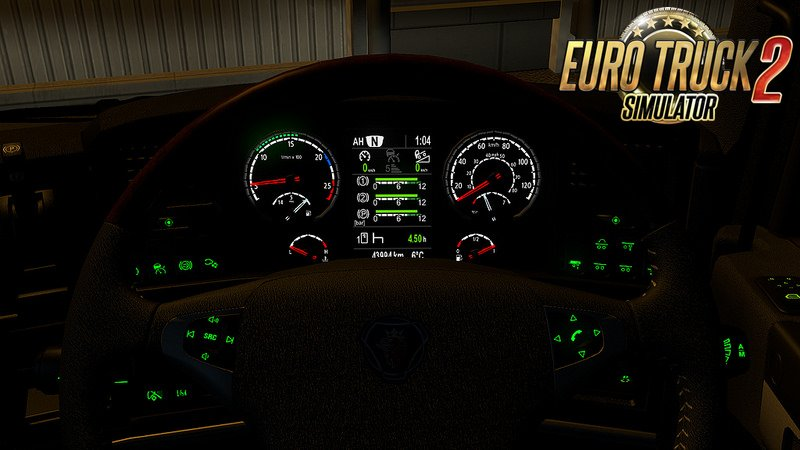 RJL Scania high-def interior gauges & emblem v2.0