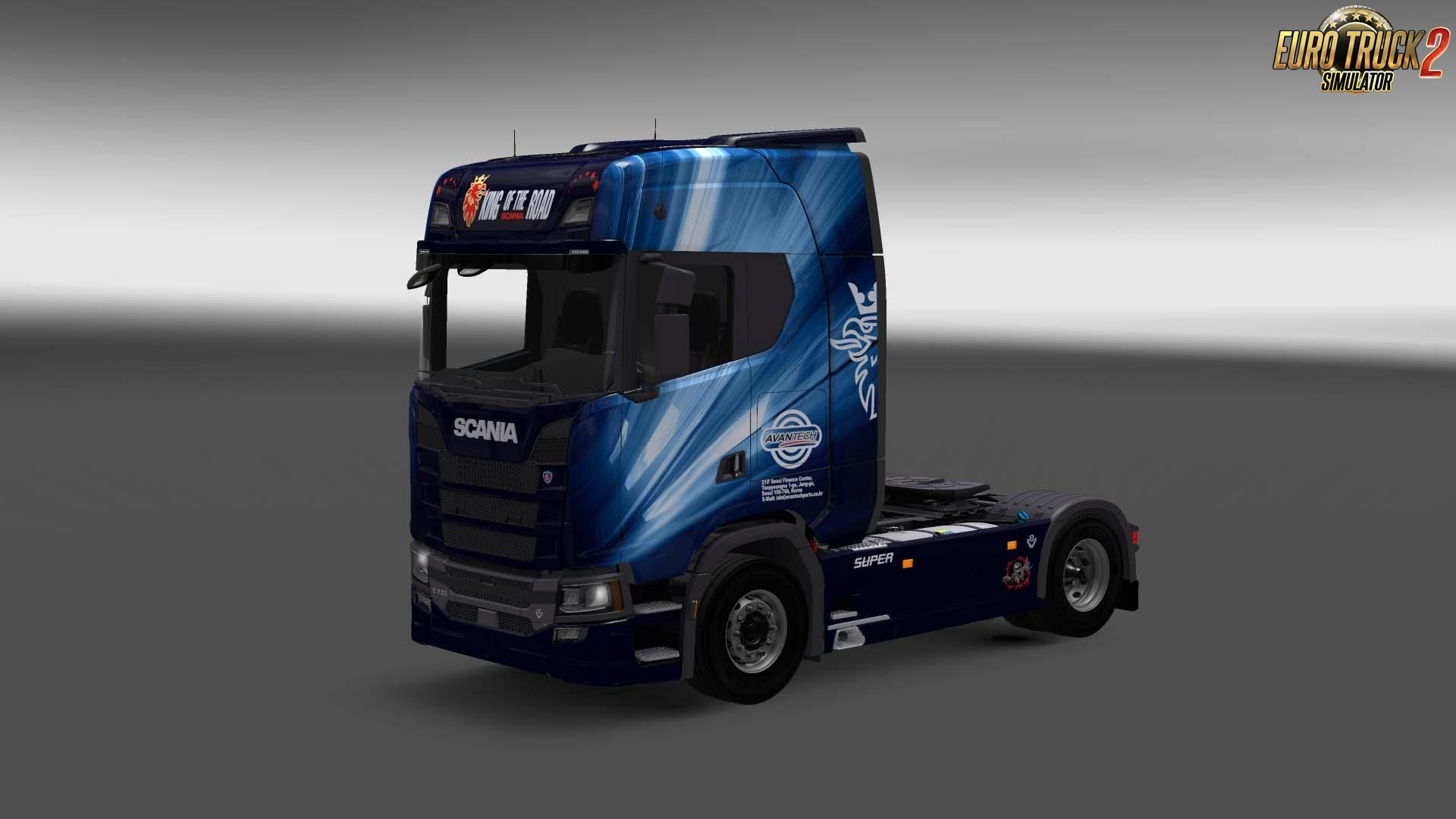 Avantech skin for Scania S730 v1 0 (1 27 x) » ETS2 mods, SCS