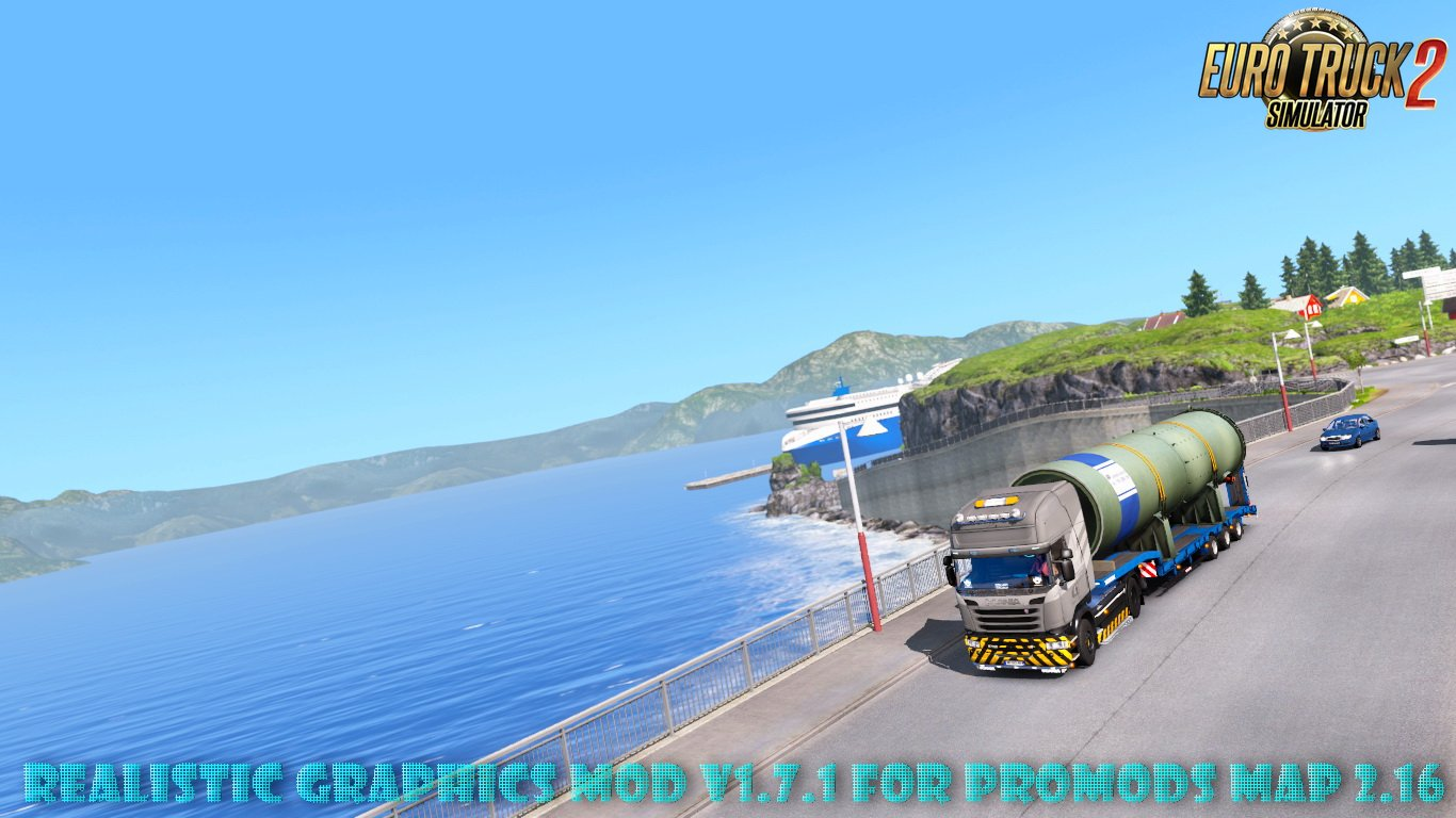 Realistic Graphics Mod v1.7.1 for ProMods Map 2.16 (1.27.x)