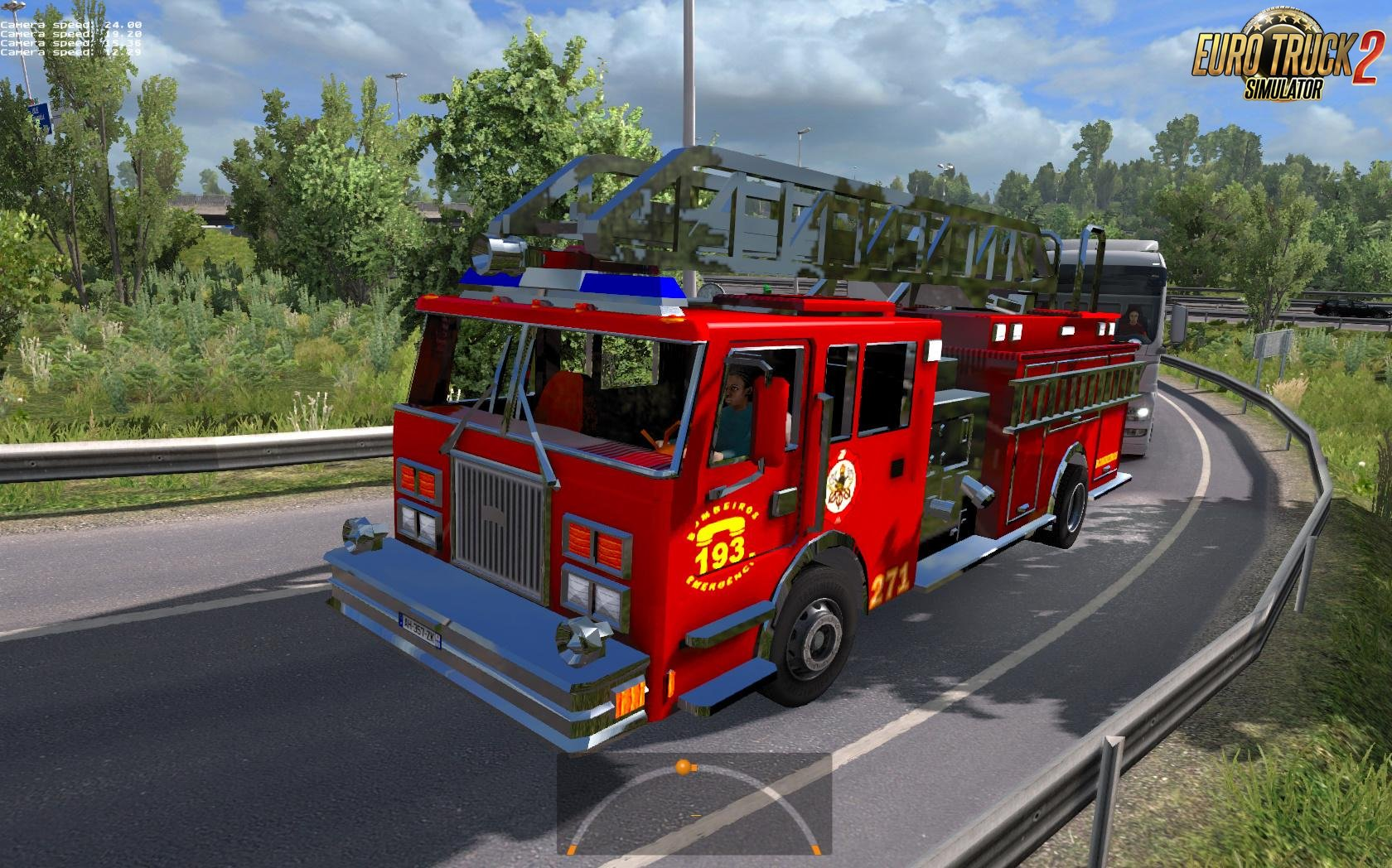 Fire trucks in traffic [1.27.x]