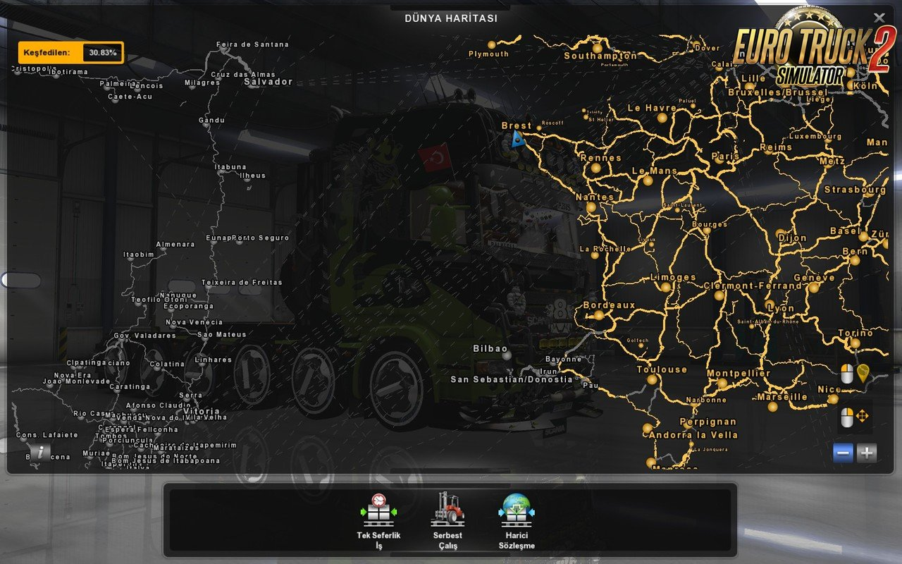 ProMods 216 EAA Map 42 Fix 127x Download ETS 2 mods Truck