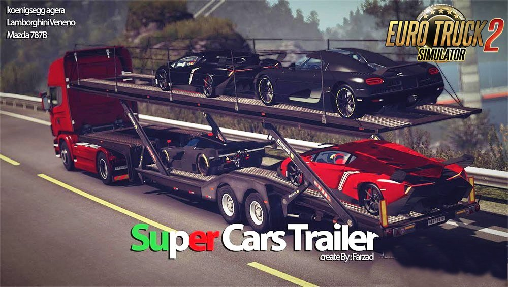 Super Cars Trailer v1.0 By Farzad (1.27.x)