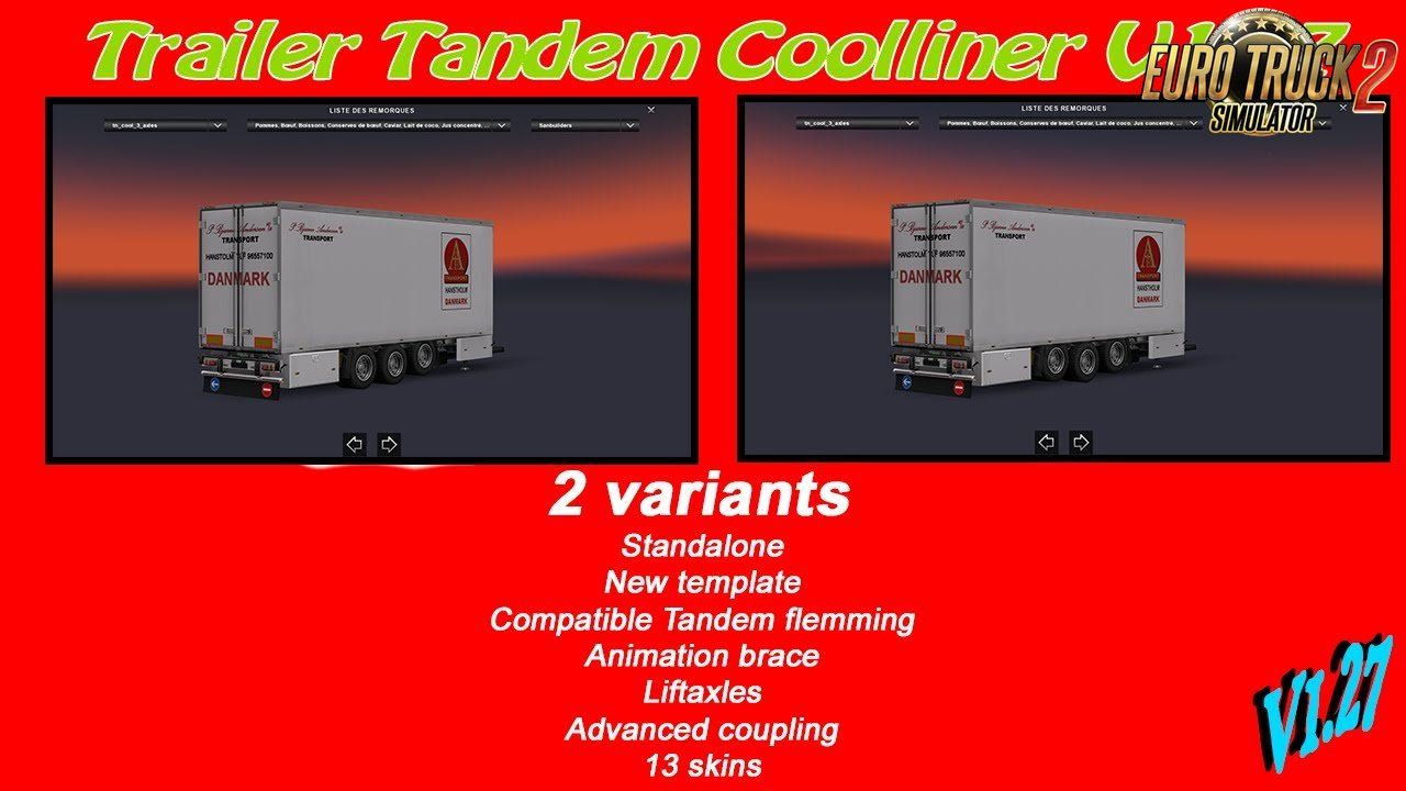 Trailer Tandem Coolliner 3 axles [1.27.x]