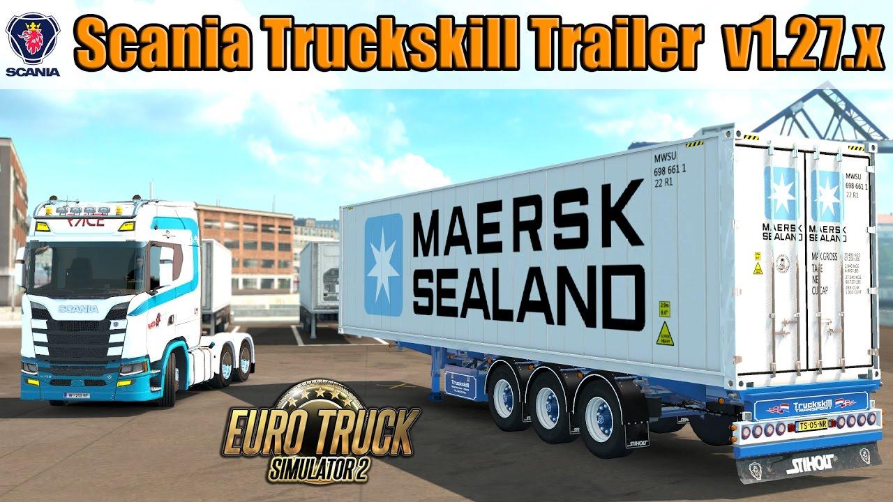V8 illegal reworked truck v5 0 simulator games mods download - Scania Truckskill Trailer Reworked 1 27 X Euro Truck Simulator 2