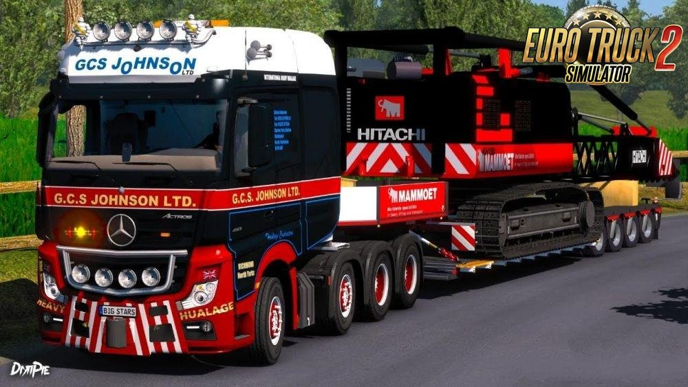 G.C.S. Johnson LTD. Skin for Mercedes-Benz Big Stars Actros v1.0 (1.27.x)