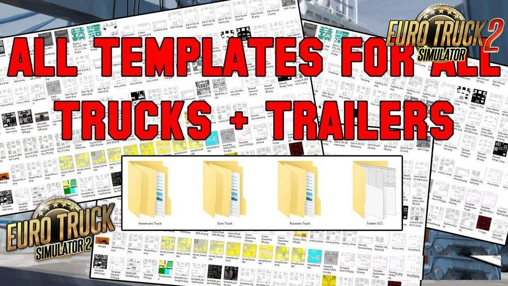 All Truck + Trailer Templates Collection Pack [50 + Template] for Ets2