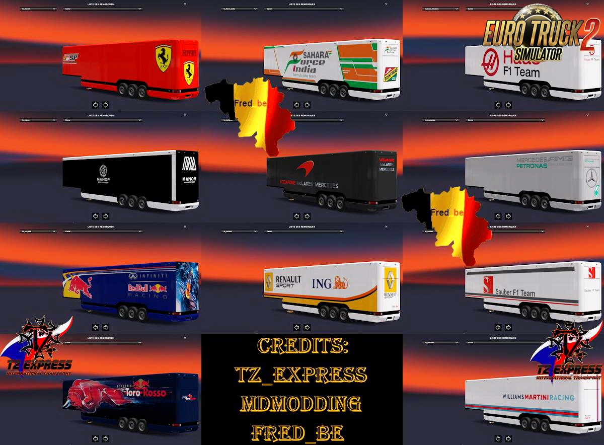 Trailer Pack Aero-Dynamic F1 v1.0 (1.27.x)