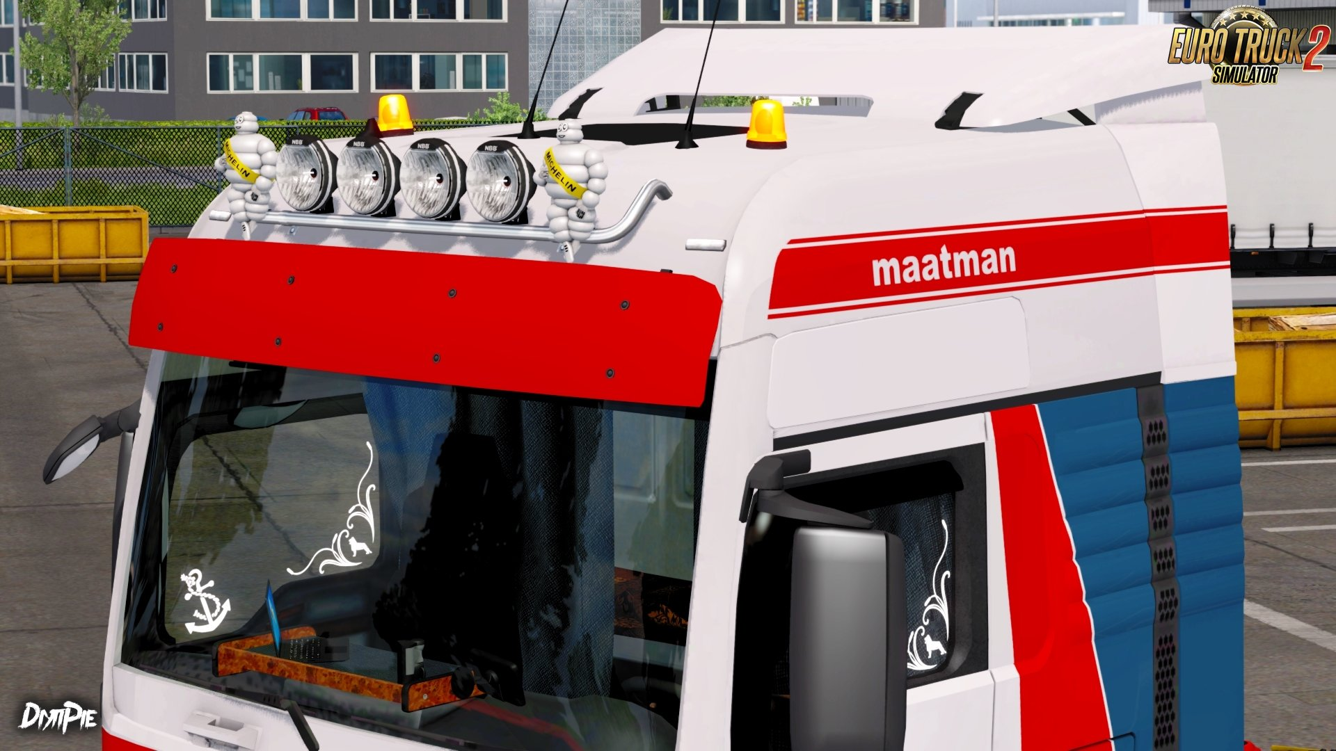Maatman Skin for MAN TGX Euro 6 by MADster v1.0 (1.27.x)
