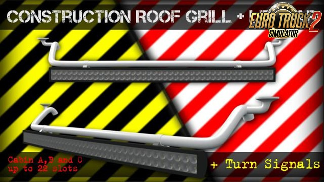 Construction Roof Grill + Led Bar