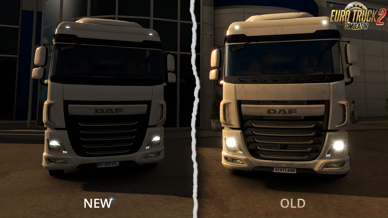 Better light flares for vehicles for Euro Truck Simulator 2