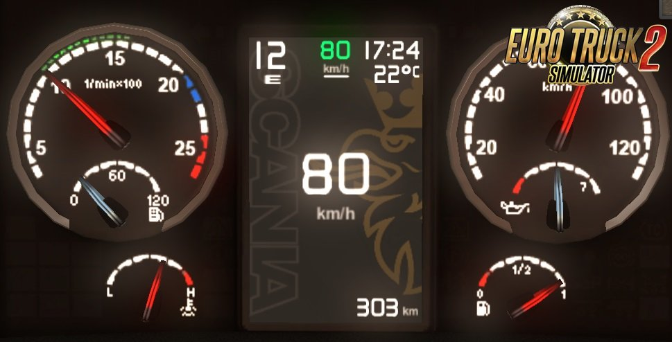 Scania Griffin Custom dashboard by Piva