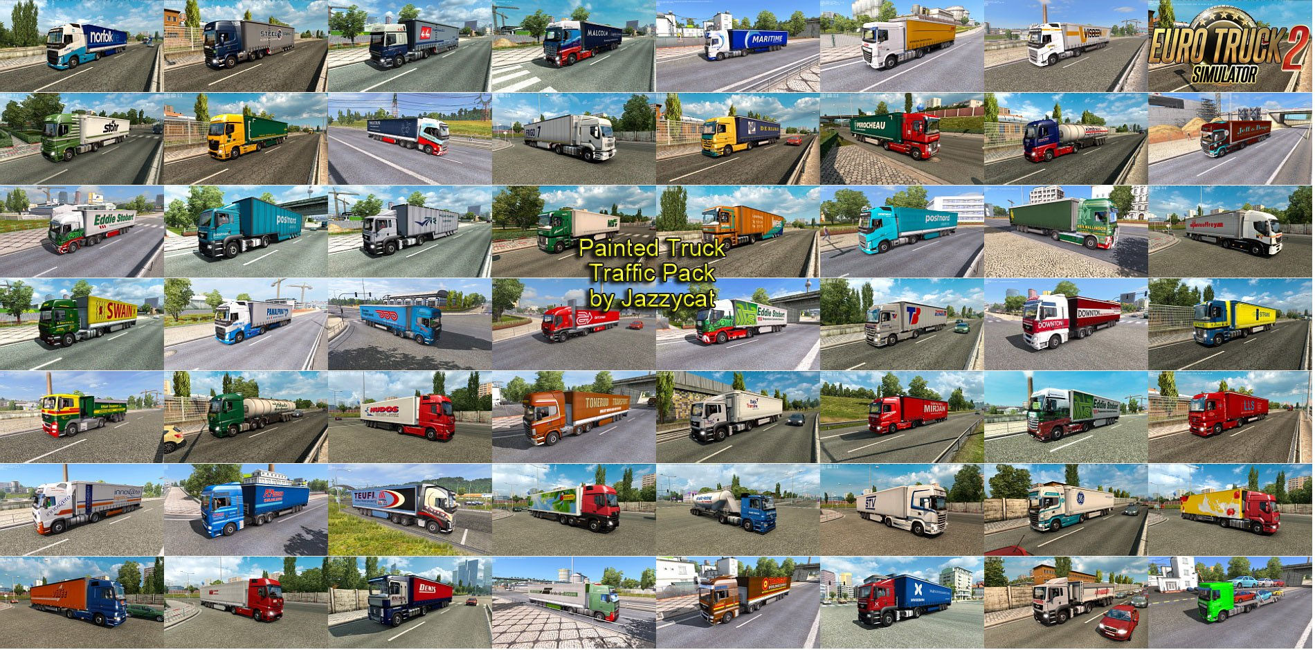 Painted Truck Traffic Pack v4.0 by Jazzycat (1.28.x)