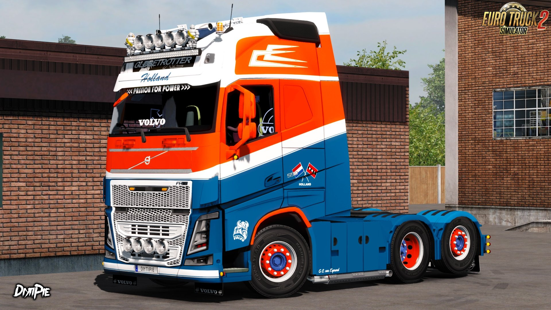 G.C. van Egmond bv Skin for Volvo FH16 by Ohaha v1.0 (1.27.x)