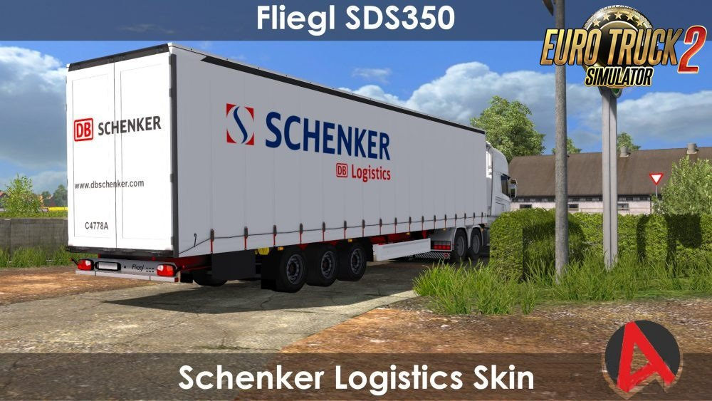 DB Schenker Logistics Skin for Fliegl SDS350 Mega Trailer in Ets2