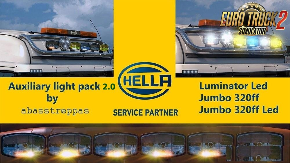 Hella Auxiliary Light Pack v2.0 by Abasstreppas [1.27.x]