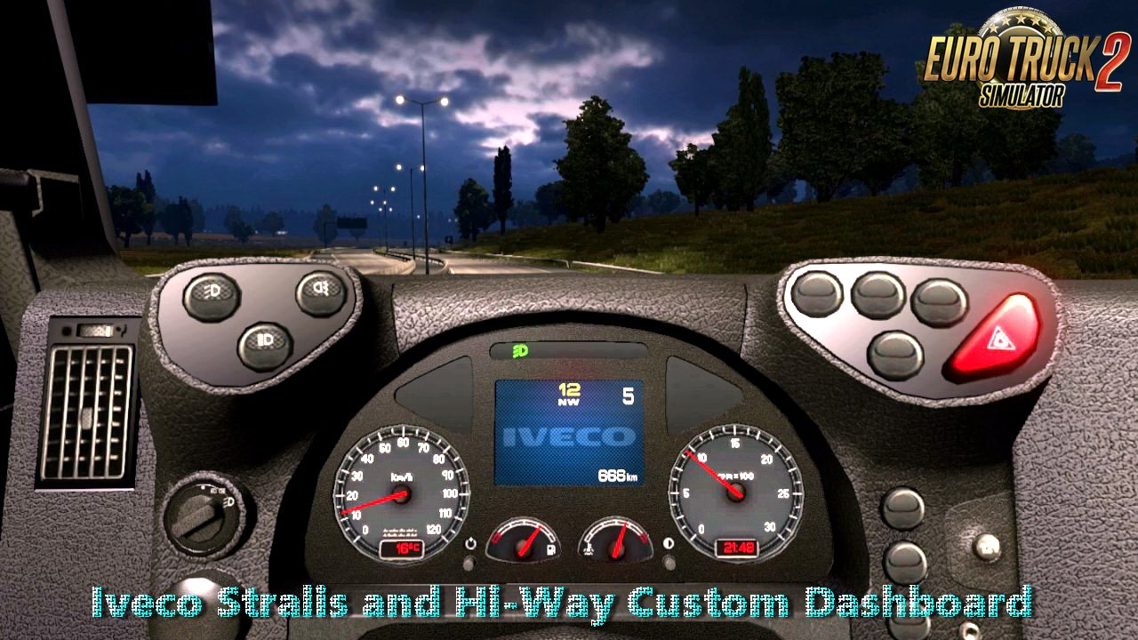 Iveco Stralis and Hi-Way Custom Dashboard v1.0 by Piva (1.28.x)