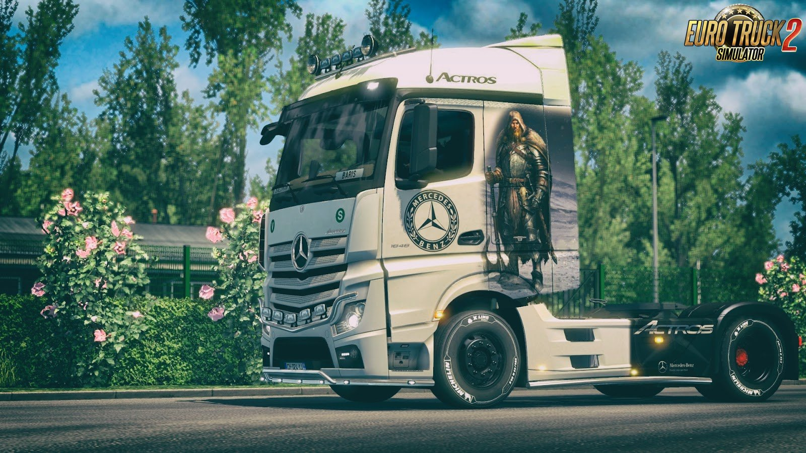 Viking Warrior Skin for Mercedes-Benz MP4 v1.0 by DafDriver (1.28.x)