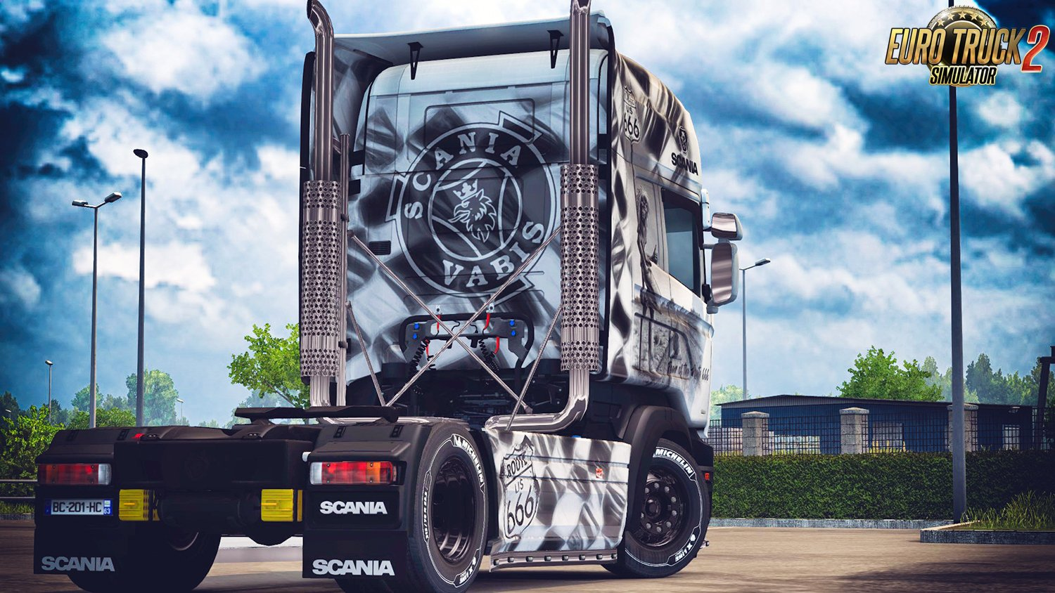 Route 666 Skin for Scania RJL v1.0 by DafDriver (1.28.x)