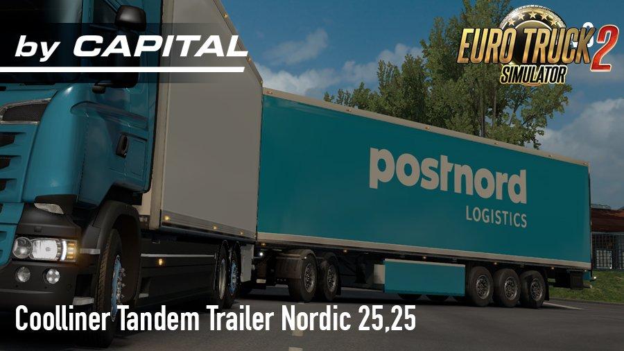 Tandem Nordic Trailer (25,25) v3.0 -ByCapital