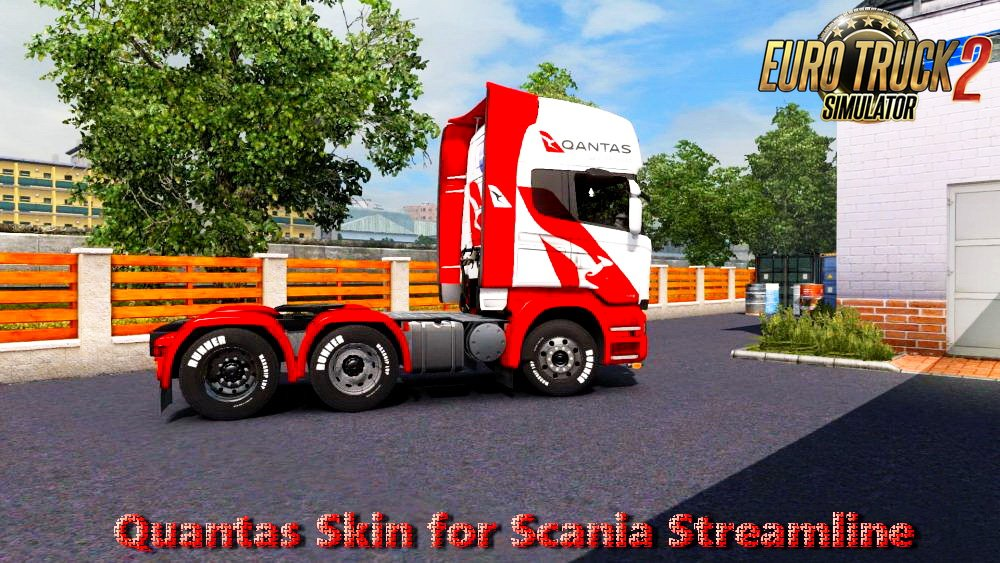 Quantas Skin for Scania Streamline Topline v1.0 (1.28.x)
