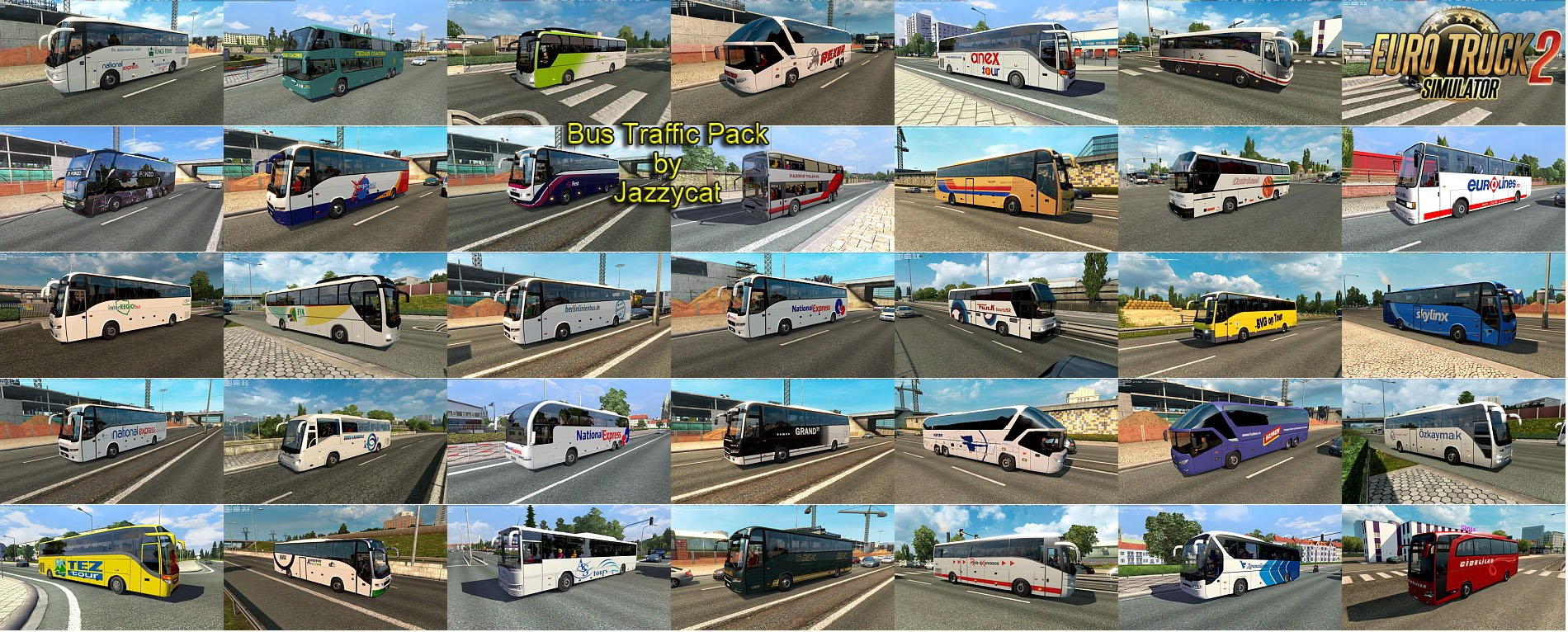 Bus Traffic Pack v2.5 by Jazzycat