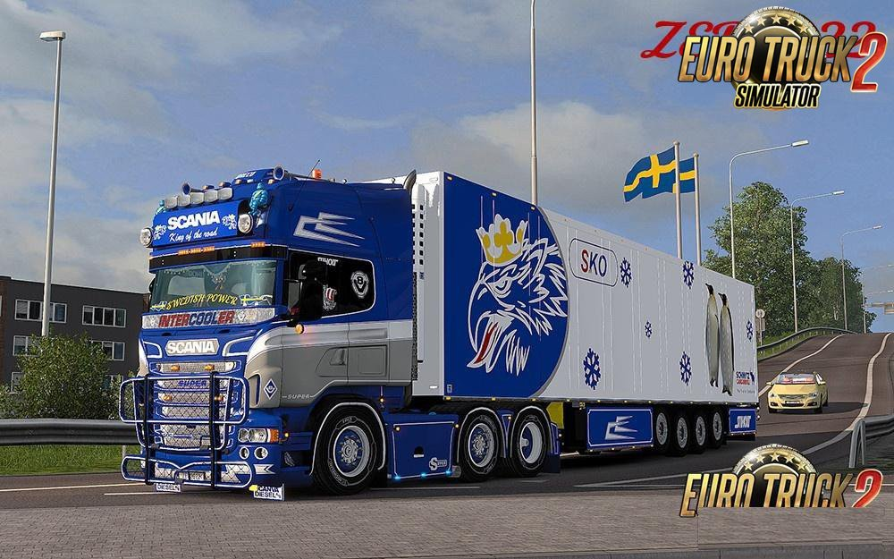 BLUE CUSTM COMBO PACK + ACCESSORY FOR SCANIA RS RJL