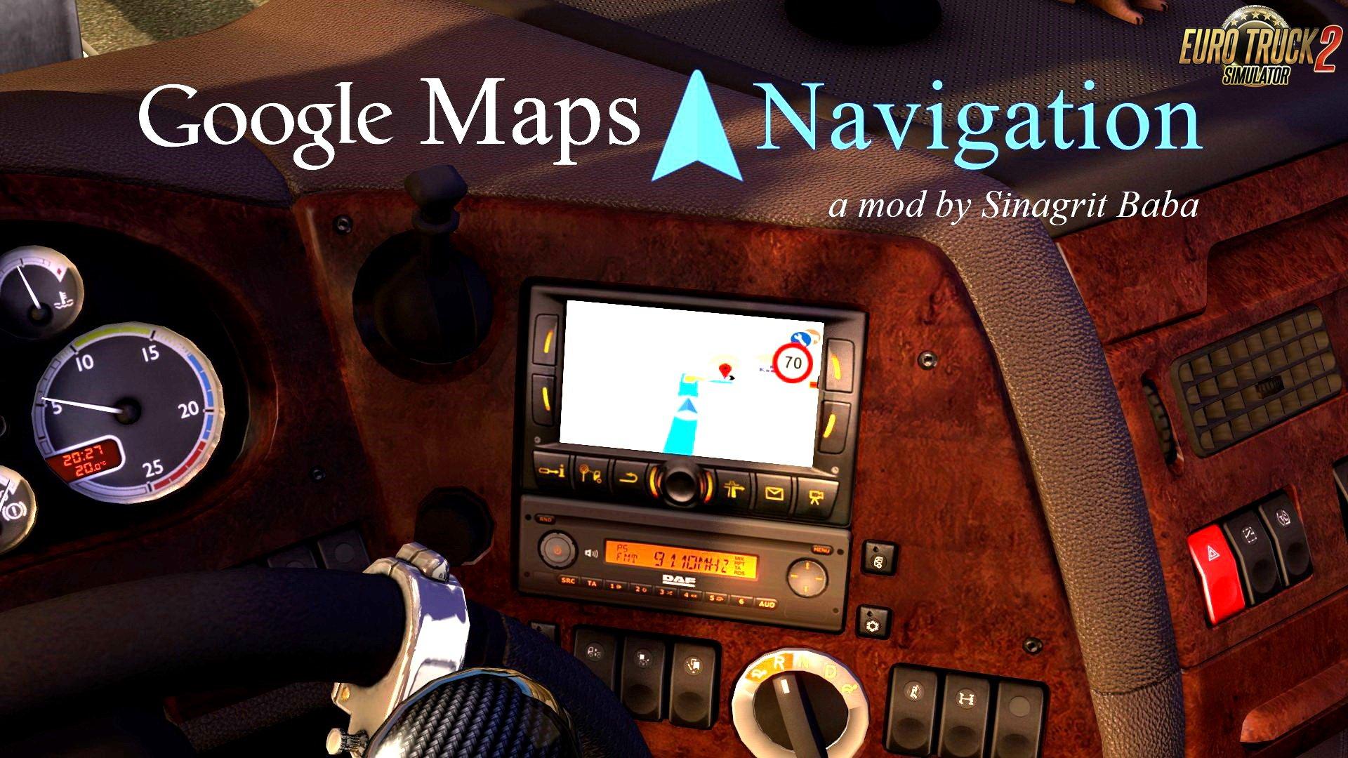 ETS 2 - Google Maps Navigation