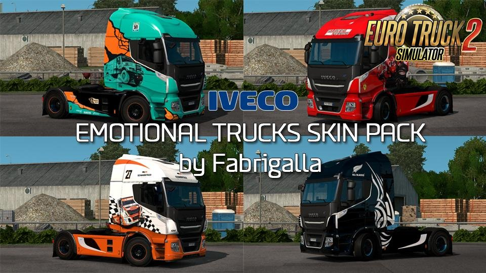 Emotional Trucks Skin Pack for Iveco Stralis / Hi-Way v1.0 (1.28.x)