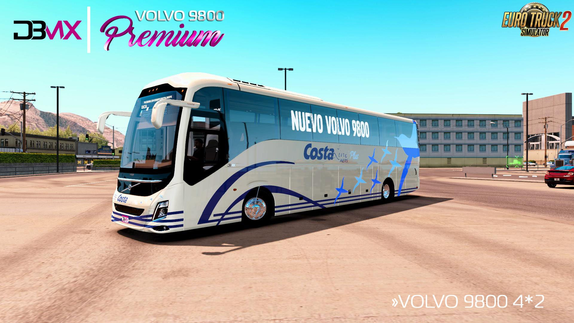 Bus Volvo 9800 + Interior v1.0 (1.28.x)